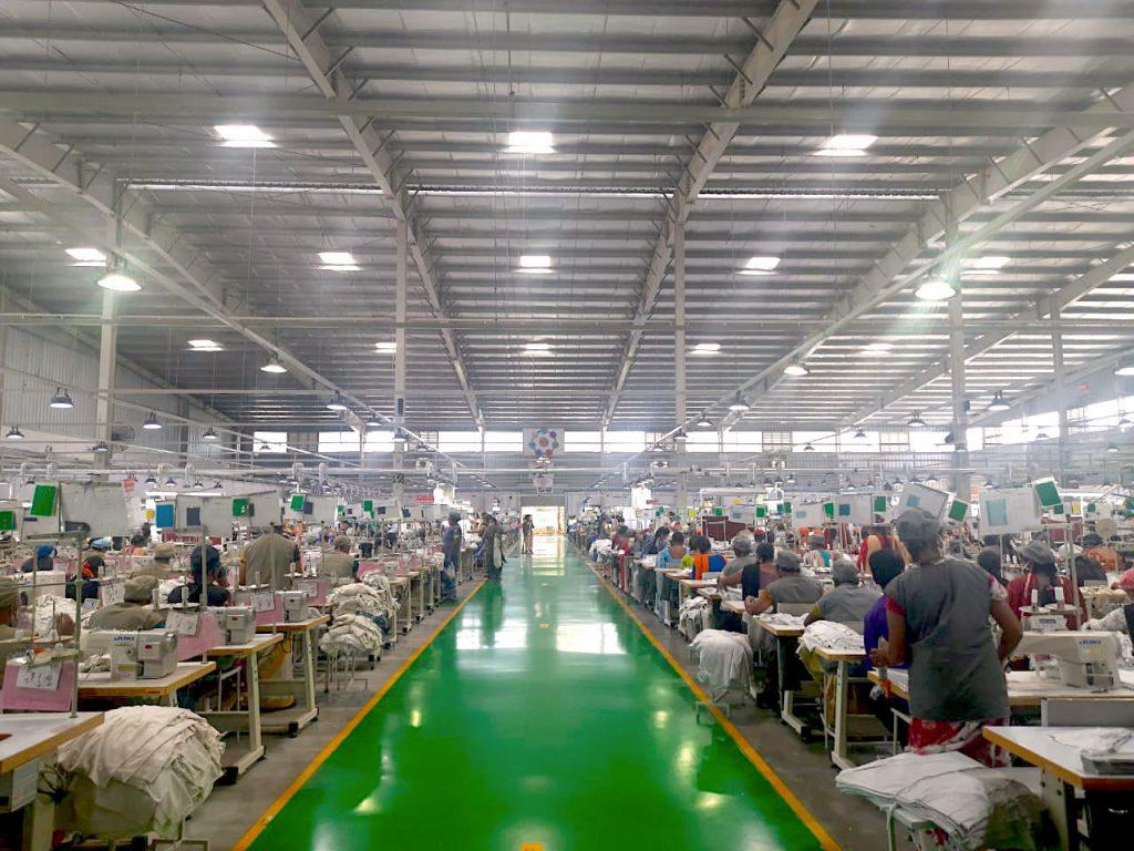 Sunlight illumination in our factory, Maddur, Karnataka, India
